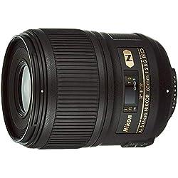 Nikon AF-S 60mm micro f/2.8 G ED Objectif pour Appareil Photo Reflex Noir