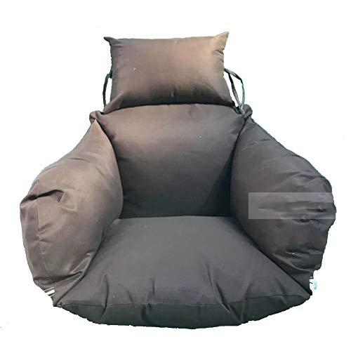 WJT@YX Hängende Stuhl Sitzkissen Stuhl-Pads, Große Sitzkissen Swing Chair Pad Wiege-Stuhl-Pad Polyester-gewebe Abnehmbar waschen Pp gefüllt Baumwollfutter-Kaffee 50x53cm(20x21inch)