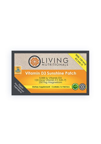 Living Nutritionals - Vitamin D3 5000Iu Sunshine Patches (16 Pflaster)