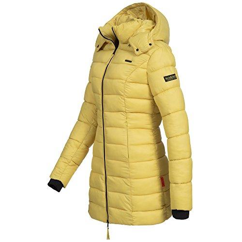 Marikoo ABENDSTERNCHEN Damen Mantel Jacke Steppjacke Winterjacke gesteppt Übergang XS-XXL Gelb