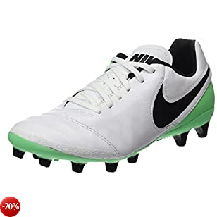 Nike Tiempo Genio.II Leather AG-Pro, Scarpe da Calcio Uomo, Bianco (White/Black-Electro Green), 41 EU