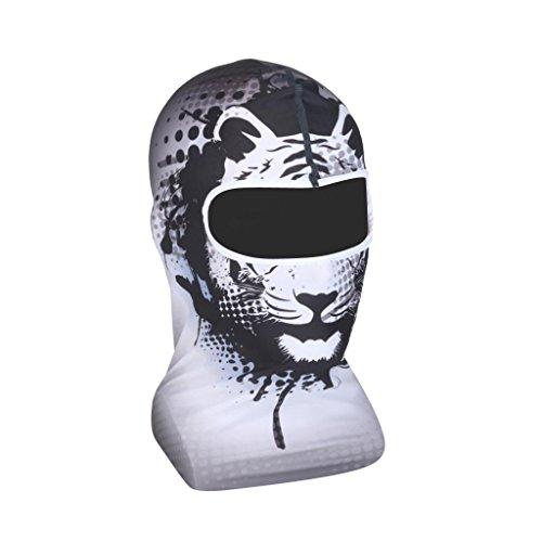 MagiDeal Fahrrad Motorrad Radfahren Kopfbedeckung Volle Gesichtsmaske Atmungsaktiv - Muster 11 (Kopfbedeckung Volle)