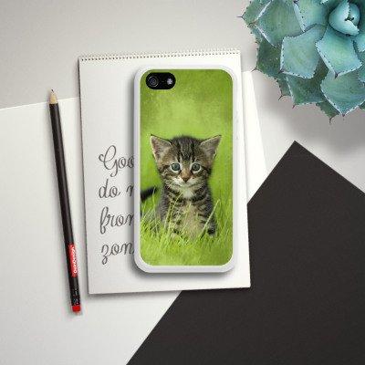 Apple iPhone 3Gs Housse étui coque protection Bébé chat Kitten Chat Housse en silicone blanc