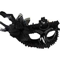 ea893d0fb6ffc PICCOLI MONELLI Máscara Veneciana Negra Sexy Mujer máscara Venecia Carnaval  ...