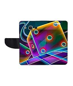 KolorEdge Printed Flip Cover For Samsung Galaxy Core Prime - Multicolor(45KeMLogo8025CorePrime)