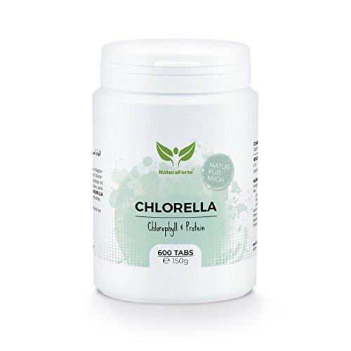 Chlorella Pura de Calidad Superior (600 tabletas de 250mg) | Ricas en Magnesio, Fibra,...