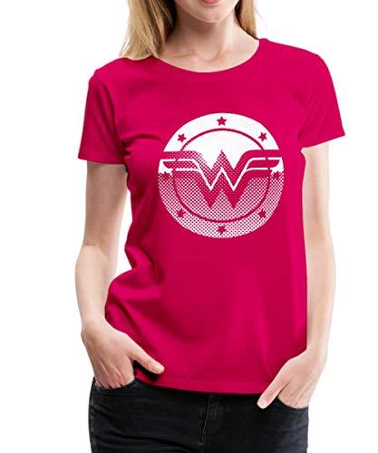 Spreadshirt DC Comics Originals Wonder Woman Retro Symbol Frauen Premium T-Shirt, XXL (44), Dunkles Pink -
