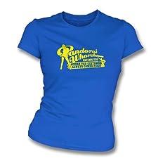TshirtGrill Pandoras dünnes T-Shirt der Sitz des Bordell-Mädchens, Farbe- Königsblau