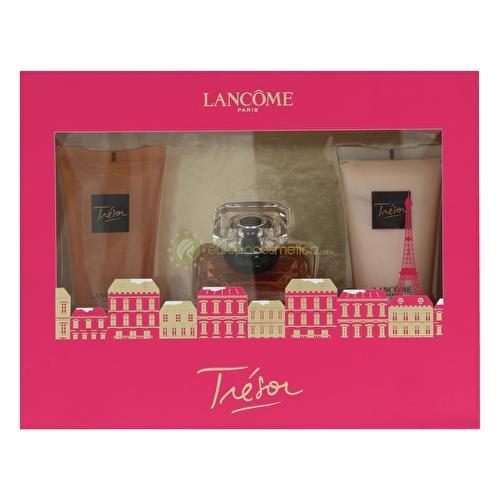 Lancome Gel Parfüm (Lancôme Tresor Geschenkset femme, Eau de Parfum + Bodylotion + Duschgel, 1er Pack (1 x 130 ml))