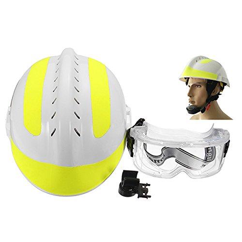 ShopSquare64 300 * 240mm Rettungshelm Feuerwehrmann + Schutzbrille Safety Protector Helm