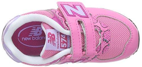 New Balance Unisex Baby Kg574 Lauflernschuhe Pink (Pink/White)
