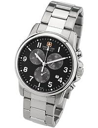 Swiss Military 6-5142.04.007 - Reloj de caballero de cuarzo, correa de acero inoxidable color plata