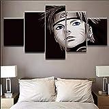 Siluyu Impressions sur Toile, 3D 5 Panneaux Toile,Décoration Murale,Taille:150 * 80Cm,Article:Naruto Avatar...