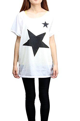 Camicia Maglia Manica Corta Donna Maniche Camicia Blusa Corte T-shirt