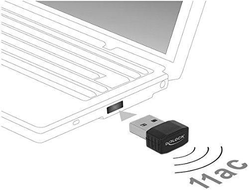 DELOCK WLAN USB 2.0 Stick Nano Dualband 2.4/5 GHz WLAN-AC 433