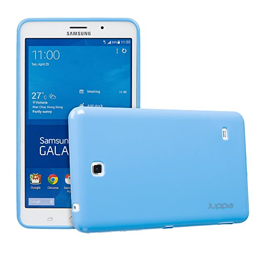 Juppa® Samsung Galaxy Tab 4 7,0 Zoll SM-T230 SM-T231 TPU Silikon Gel Tasche Hülle Schutzhülle mit HD LCD Displayschutz Schutzfolie Folie (Blau / - Case 7 Tablet Lg Gel