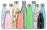 Chilly's Bottles doppelwandige, vakuumisolierte Flasche schwarz schwarz 500ml