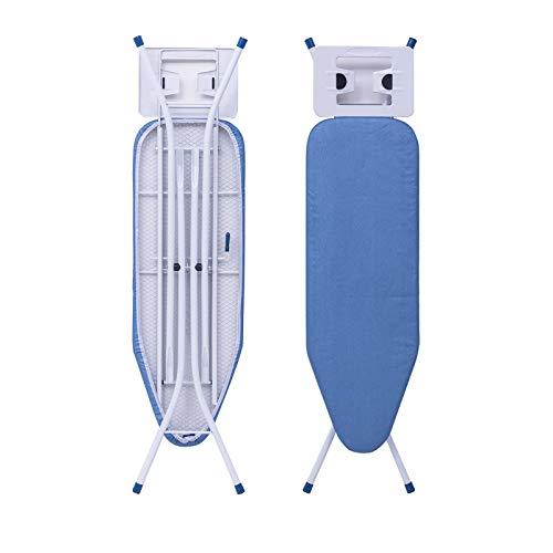 WOLTU BGT01bl Table à Repasser réglable en Hauteur,Planche à Repasser 110x30x (68-80) cm, Bleu
