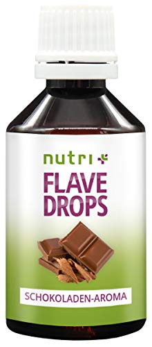 FlaveDrops Schokolade 50ml - Kalorienfreie Aromatropfen - Geschmackstropfen zum Süßen und Backen - Chocolate Flavor Drop Vegan - Flavour ohne Zucker