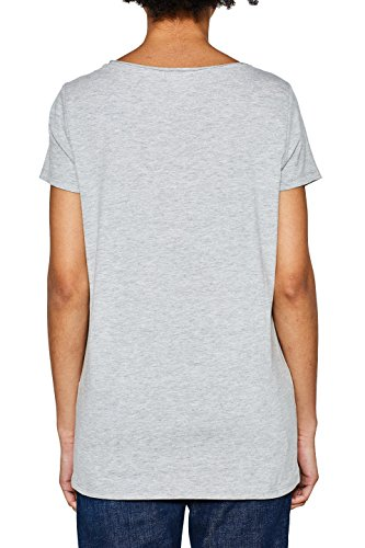 ESPRIT Damen T-Shirt Mehrfarbig (Light Grey 4 043)