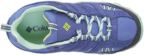 Columbia Mädchen Youth North Plains Outdoor Fitnessschuhe Blau (Medieval, Spring Yellow 570)