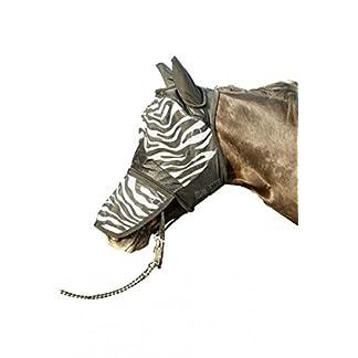 Hkm 52691291.0641 Anti-fly Mask with Nose protection, Zebra pattern, white/black - Size - Cob 7