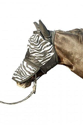 Hkm 52691291.0641 Anti-fly Mask with Nose protection, Zebra pattern, white/black - Size - Cob 1
