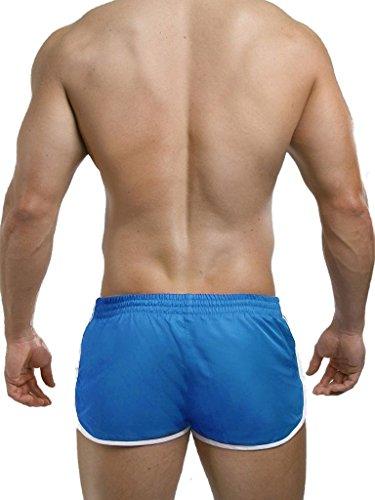 2Eros - Icon Shorts (Zyzz Shorts) Blau / Navy Bade- und Sporthose Blau/Weiß