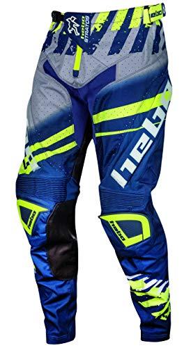 HEBO Stratos Pantaloni Enduro-Cross, Adulti Unisex, Blu, Medium