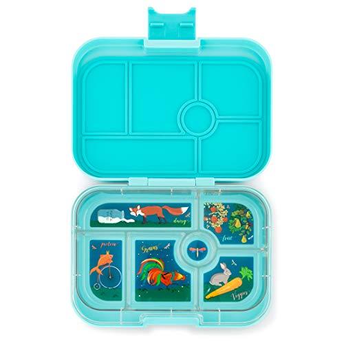 Yumbox Original M Lunchbox (Mystic Aqua, 6 Fächer) - mittelgroß | Brotdose mit Trennwand Einsatz | Bento Box für Kindergarten Kinder, Schule