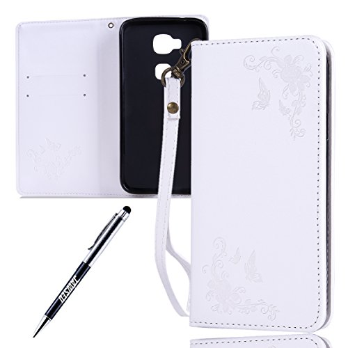 Huawei-G8-Custodia-Huawei-Ascend-G8-G7-Plus-Cover-Custodia-Portafoglio-JAWSEU-Shock-Absorption-Lusso-3D-Goffratura-Fiore-Farfalla-PU-Leather-Flip-Cover-Custodia-for-Huawei-G7-Plus-Protectiva-Bumper-Co