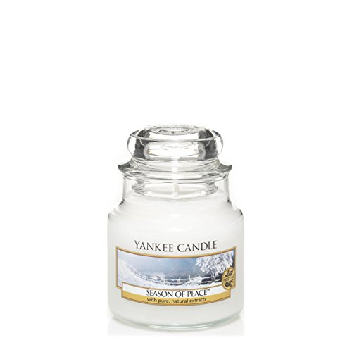 YANKEE CANDLE 1275353E Bougie senteur Season Of Peace en jarre Blanc