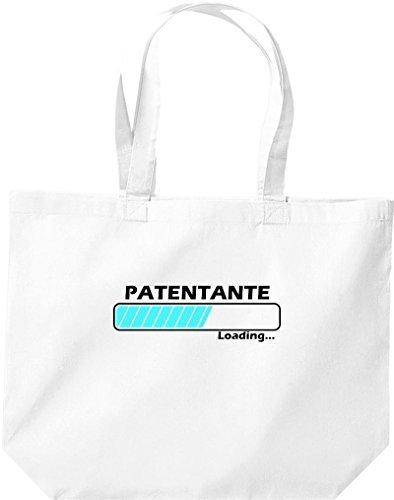 shirtstown grande borsa della spesa, SHOPPER MADRINA Loading Bianco
