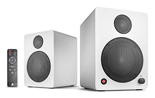 wavemaster CUBE MINI NEO white - Regallautsprecher-System (36 Watt) mit Bluetooth-Streaming, Digitalanschluss und IR-Fernbedienung, Aktiv-Boxen, Nutzung für TV/Tablet/Smartphone, weiß (66371)