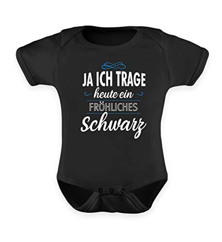 Ja Ich Trage Heute EIN Fröhliches Schwarz Sarkasmus Spruch - Baby Body -6-12 Monate-Schwarz