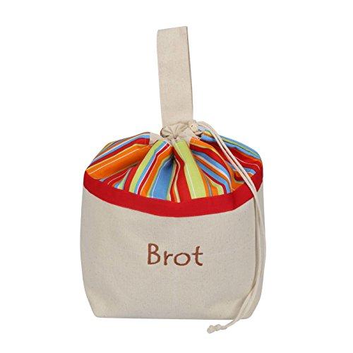 Pan Bolsa de algodón, 3en 1, para conservación + Servir + Compras, transpirable y decorativa, modelo sonnig, 32x 35cm