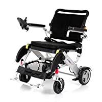 Motion Healthcare Foldalite Pro Power Wheelchair - New SPEC Lightweight and Durable - Electric Power Mobility Chair for Adults