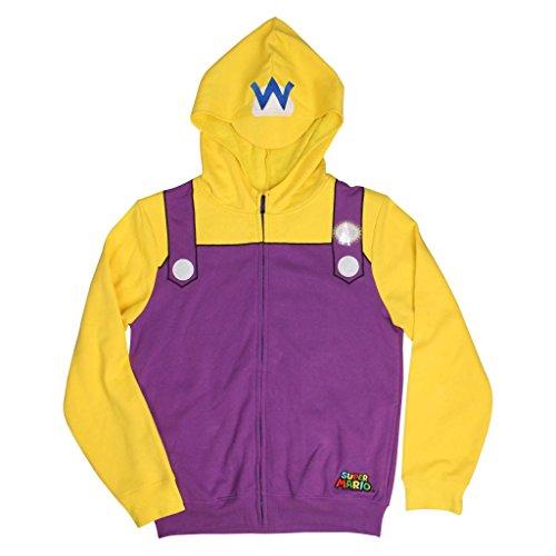 Nintendo Wario Erwachsene Kostüm Zip Up Hoodie (Medium)