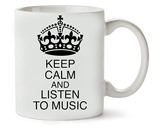MugWorld Keep Calm Listen to Music Klassische Teetasse Kaffeetasse
