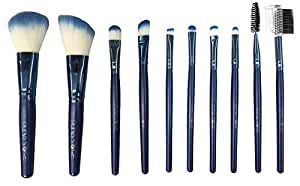 Puna Store® 10 Piece Makeup Brush Set Model PS-543 (Blue)