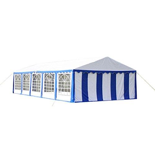 Anself Gazebo Tendone con Pannelli Laterali per Campeggio Giardino Festa 10 x 5m Blu
