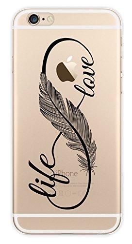 Blitz® PUSHER 2 motifs housse de protection transparent TPE iPhone Pooow M10 iPhone 4 Love Life M9