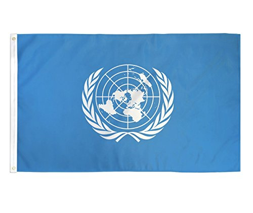 trendyluz Flaggen United Nations Vereinten Nationen National Banner Flagge 3 x 5 Fuß (United Nations-flag)