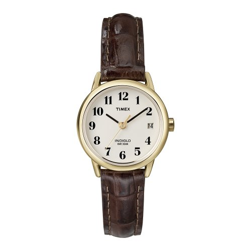 timex-womens-t20071-quartz-easy-reader-watch-with-white-dial-analogue-display-and-brown-leather-stra