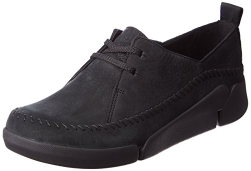 Clarks Tri Angel, Women's Low-Top Sneakers, Black (black Combi Lea), 7 UK...