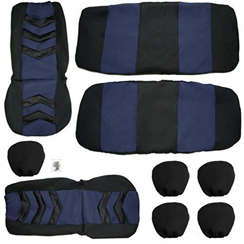 MA87 Autositz Bezüge Vollständiger Autositzbezug Universelles Innenzubehör Hochwertiger Autositzbezug aus 9-teiligem Stoff Schwamm + Sandwich (Blue) (Tacho Für Kleinkind-jungen)