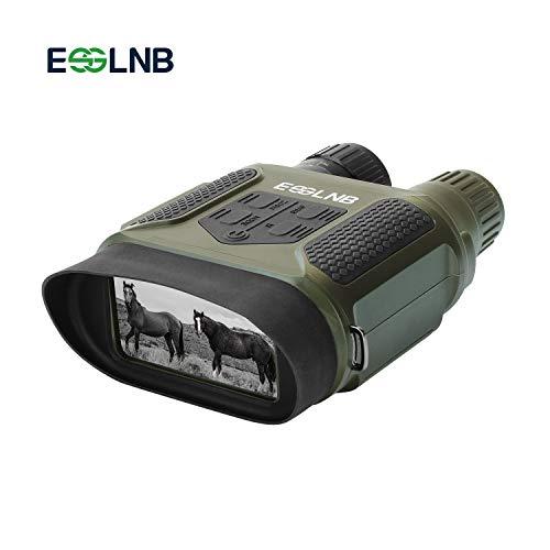 """ESSLNB Jumelles De Vision Nocturne 7x31 Jumelles Infrarouge avec 2"""" TFT LCD Écran et 8GB TF Carte Photo Caméra Vidéo Enregistreur"""
