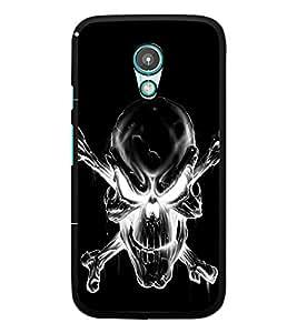 PrintDhaba Skull D-2343 Back Case Cover for MOTOROLA MOTO G2 (Multi-Coloured)