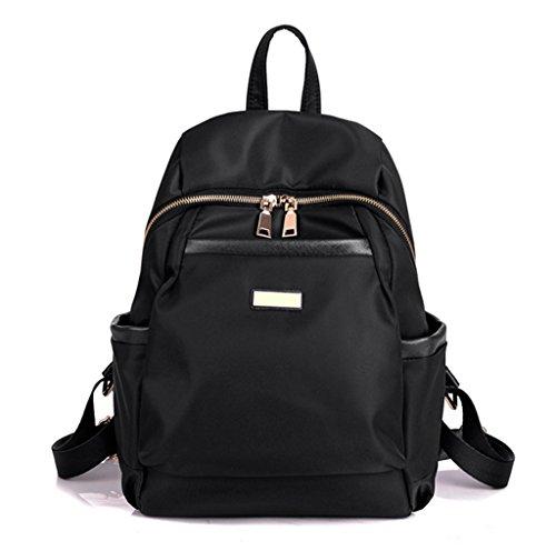 Preisvergleich Produktbild Sucastle Beiläufige Retro europäische Multifunktionsmänner Damen-Tasche Nylon schwarz 35x25x13cm