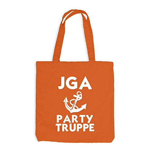 Jutebeutel - Junggesellenabschied - ANKER - Party Truppe - JGA Style Orange